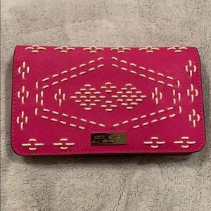 Pink leather wallet/phone case
